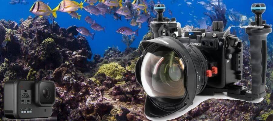 scuba diving video camera